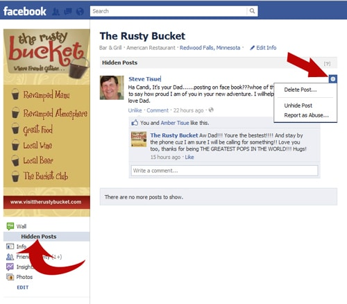 how to cancel posts on facebook