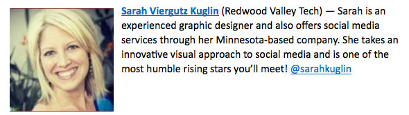 Sarah Kuglin Social Media Rising Star