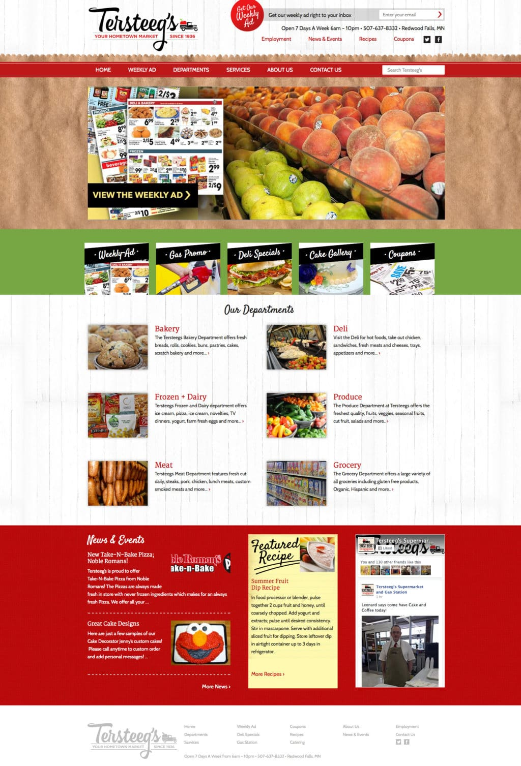 Tersteegs Grocery Store - New Website