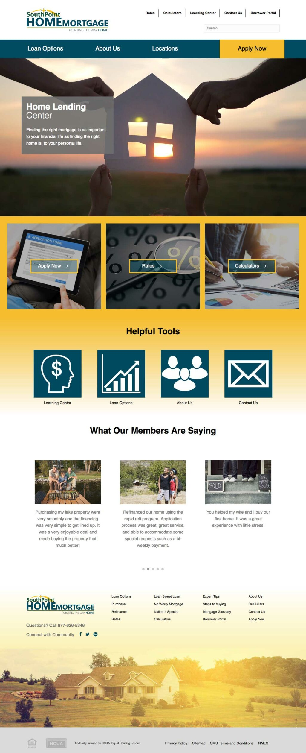 Southpoint Home Mortgage Website Design